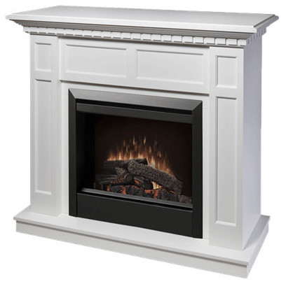 Caprice Mantel Traditional Electric Fireplace - White.
