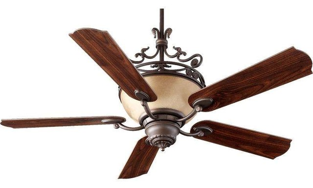 Quorum International 63565-86 Turino 56 Ceiling Fan With Light, Oiled Bronze.