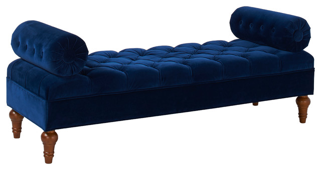 Arla Bench, Navy Blue. -1