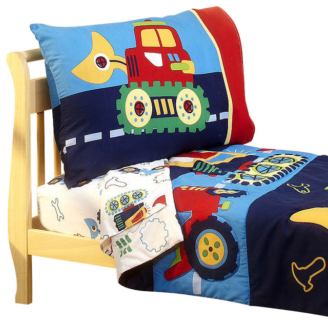 Under Construction Toddler Bedding Set Bulldozer Bed
