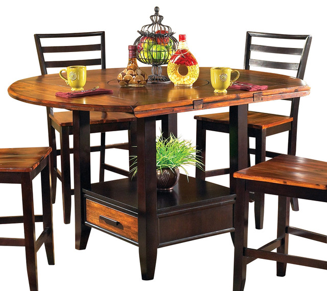 Steve Silver Abaco Drop Leaf Counter Height Table Traditional Dining Tables By Beyond Stores
