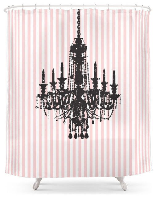 curtains ideas chandelier shower curtain society6 cotton candy pink striped chandelier shower curtain