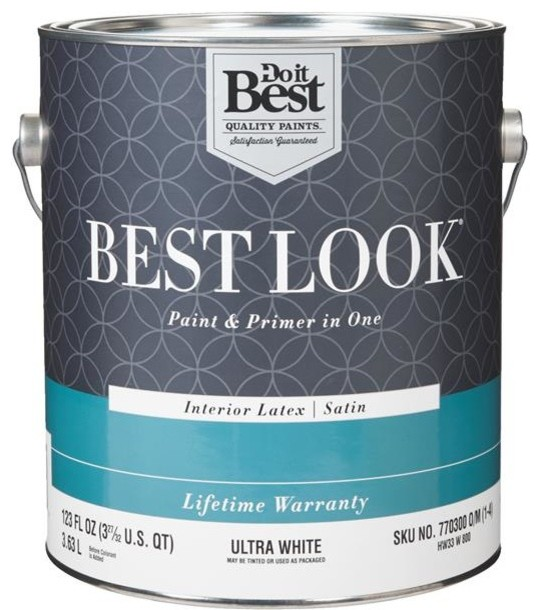Best Best Look Latex Paint And Primer In 1 Satin Interior Wall Paint