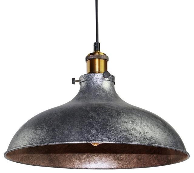 Vintage Style Industrial Adjustable Pendant Light, Brass