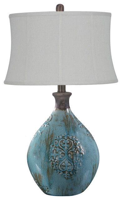 Crestview linnet azure blue ceramic table lamp 29 12 reviews linnet azure blue ceramic table lamp 29 12 traditional table lamps mozeypictures Choice Image