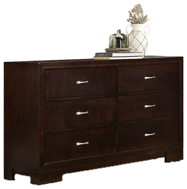 dark brown wood dresser Wood Dresser, Dark Brown   Transitional   Dressers   by Titanic  dark brown wood dresser