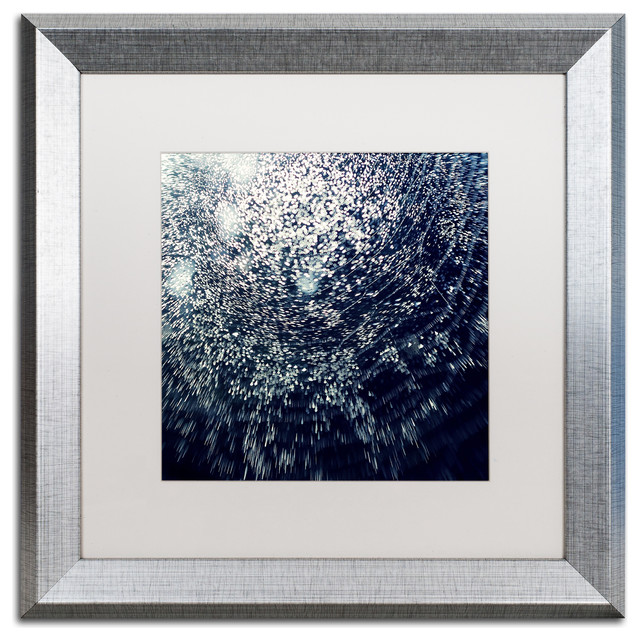 "Beata Czyzowska Young &x27;50 Shapes Of Joy&x27; Art, Silver Frame, 16""x16"", White Matte."
