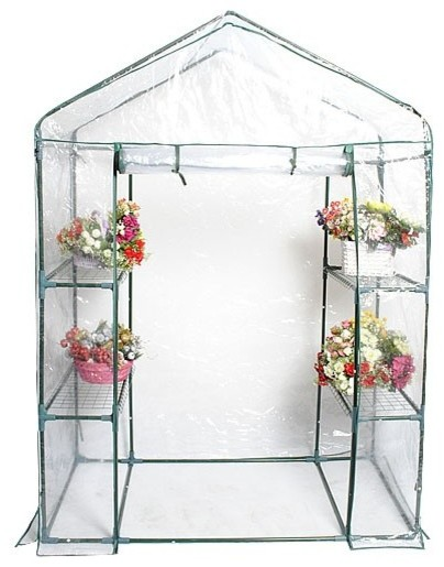 Modern Portable Outdoor 4 Shelves Greenhouse.