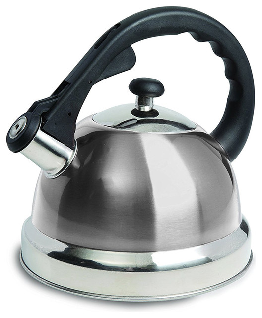 Mr Coffee Claredale 1.7 Qt. Brushed Stainless Steel Whistling Tea Kettle.