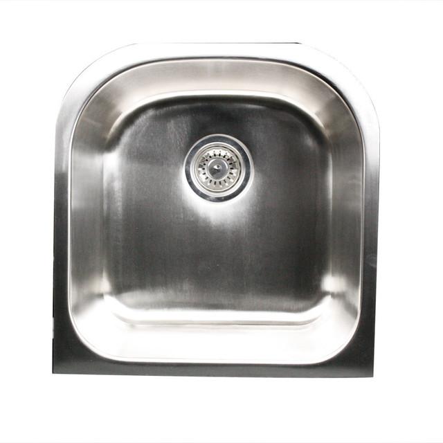Nantucket Sinks D Shaped Undermount Stainless Steel Sink