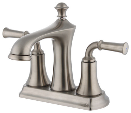 Two Handle 4 Inch Center Set Lavatory Faucet Contemporary Bathroom Sink F