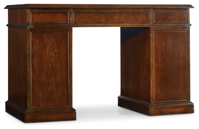 Cherry Knee-Hole Desk-Bow Front.