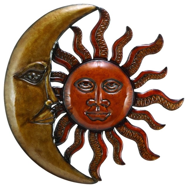 sun gold x decor sunburst outdoor wall art aged and at moon