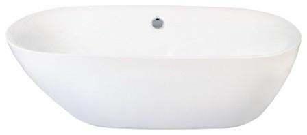 "Kingston Brass Aqua Eden 71"" Contemporary Freestanding Acrylic Bathtub."
