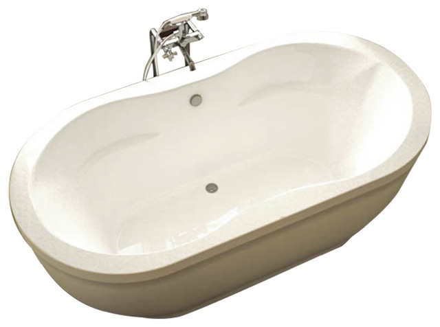 "34""x71"" Atlantis Freestanding Embrace Bathtub, Air & Whirlpool Massage System."