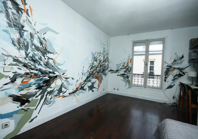 Fresque murale dans un appartement - Moderne - Paris - par ...