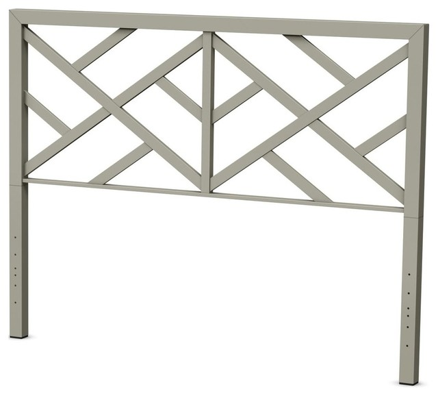 Windmill Metal Headboard, Mat Light Gray Metal, Full.