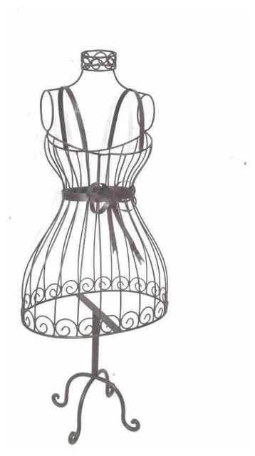 Wrought Iron Decorative Dress Form Manequin Stand Traditional