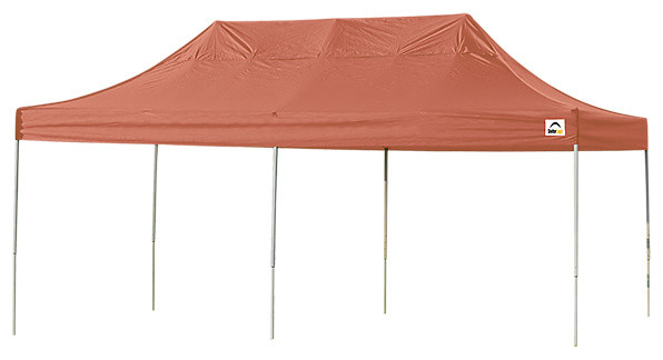 Pro Pop Up Canopy Straight Leg, Terracotta Cover, 10&x27;x20&x27;.