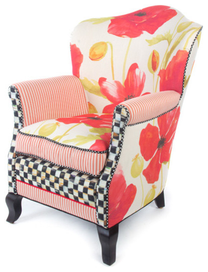 Poppy Parlor Chair | MacKenzie Childs Eclectic Armchairs And Accent Chairs