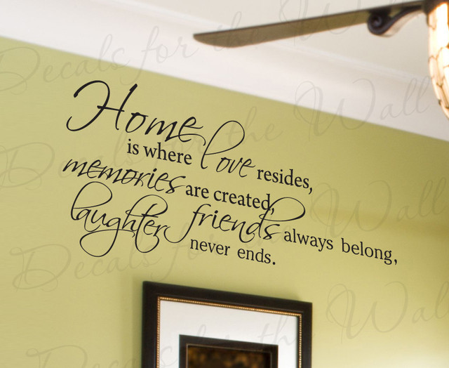 Wall Decal Quote Sticker Vinyl Lettering Home Is Where Love Resides Family  F65 Modern Wall