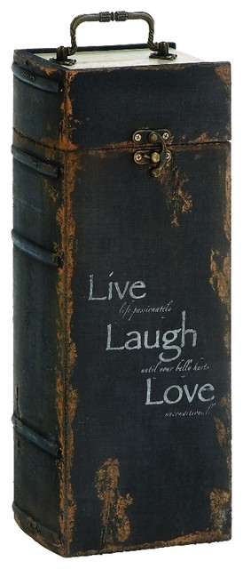 Wood Wine Cabinet Rustic Brown Metal Live Laugh Love Kitchen Bar Decor  51736 Rustic Wine