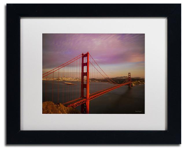 trademark fine art 39 golden gate bridge 39 matted framed. Black Bedroom Furniture Sets. Home Design Ideas
