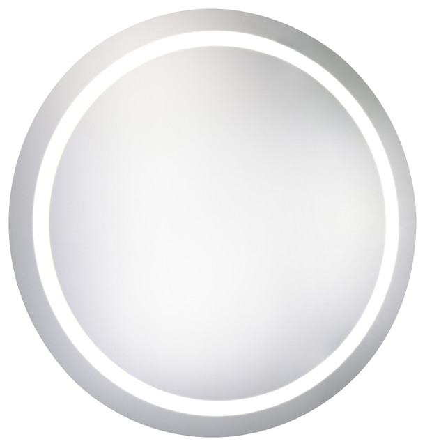 "Led Hardwired Mirror Round D30"" Dimmable 5000k."
