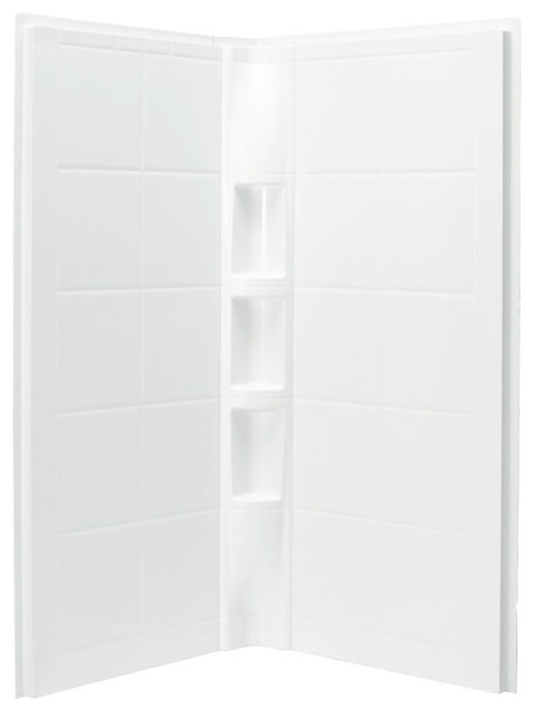 Sterling Intrigue 39 X75 Corner Shower With Backers Traditional