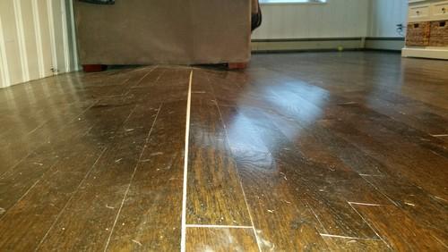 Oak Hardwood Floor Has Lifted Significantly Pls Advise