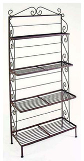 """36"""" Steel French Bakers Rack With 4 Graduated Steel Shelves ..."""
