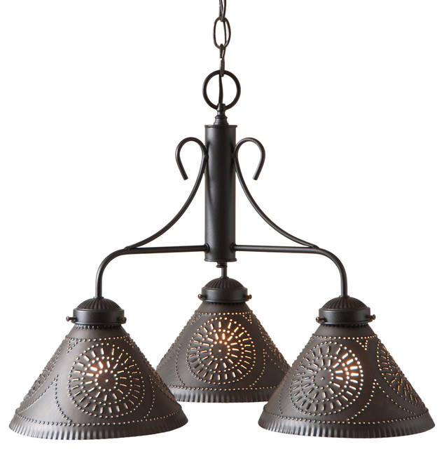 Barrington Chandelier - Kettle Black - 3 Down Lights