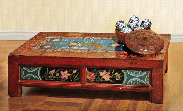 Hand Painted Mongolian Coffee Table Asian