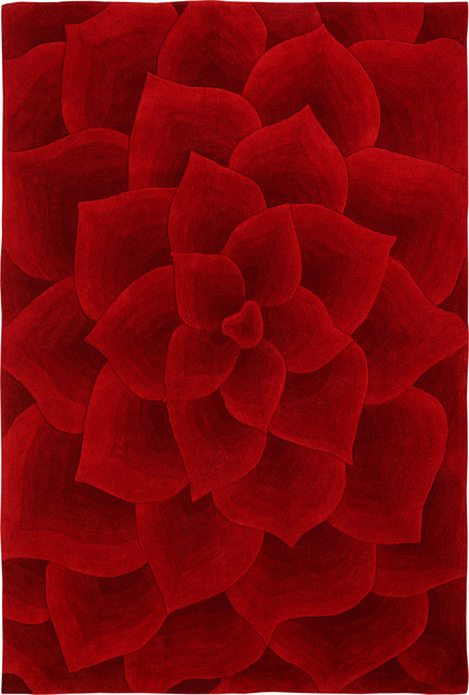 Contemporary Red Area Rugs Home Decor