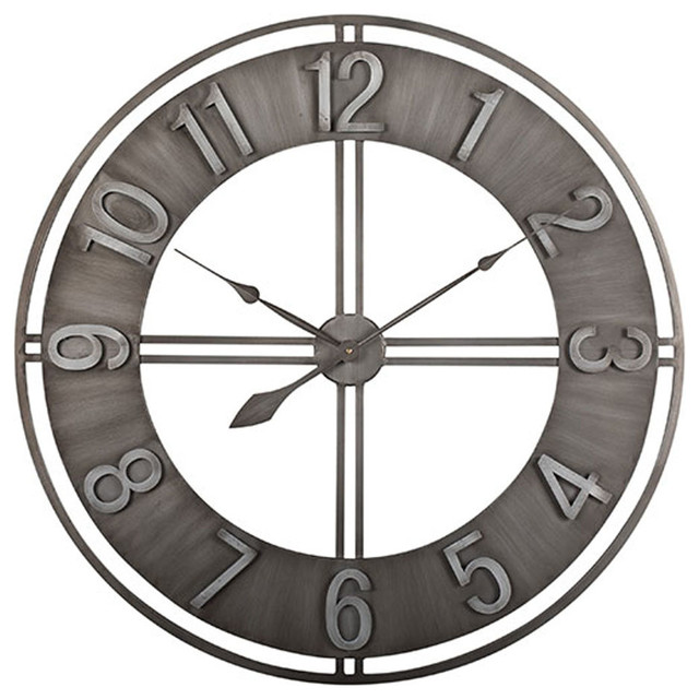 Offex 30 Quot Metal Industrial Loft Wall Clock Industrial