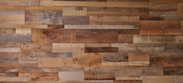 Reclaimed Wood Wall Paneling Brown Unsealed 20 Sq Ft