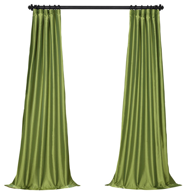 Expensive Bedroom Sets For Sale Neutral Bedroom Colours Schemes Bedroom Blue Lights Retro Bedroom Chairs: Fern FauxSilk Taffeta Curtain Single Panel
