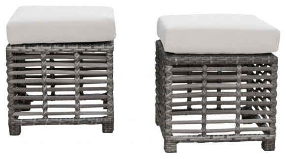 Panama Jack Graphite Small Ottomans, Set of 2