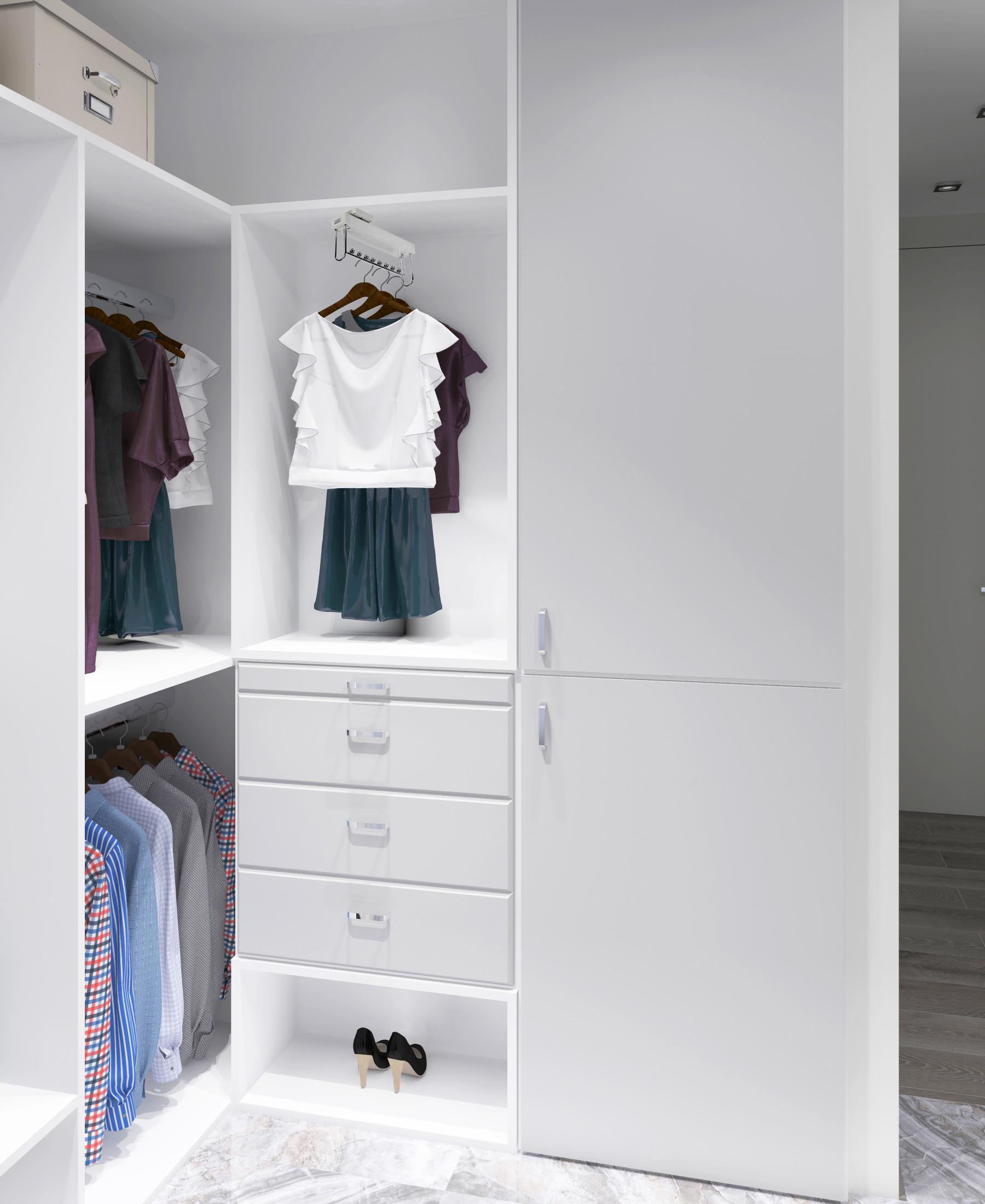 Белая гардеробная унисекс