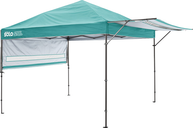 Solo Steel 170 10&x27;x17&x27; Straight Leg Canopy, Turquoise.
