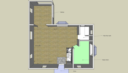 HELP Open Concept Compact Living Room Dining Layout