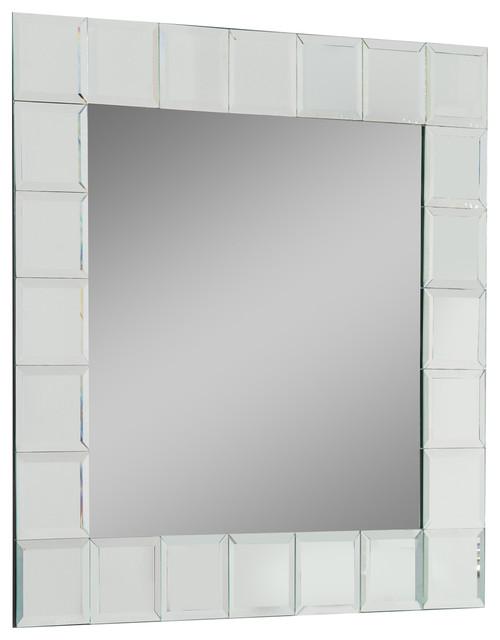 Montreal square bathroom mirror craftsman bathroom mirrors by decor wonderland - Bathroom mirrors montreal ...