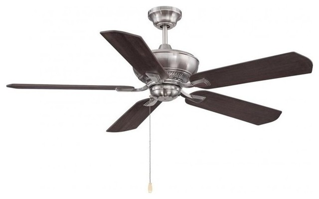 "Savoy House Braddock 52"" 5 Blade Ceiling Fan, Brushed Pewter."