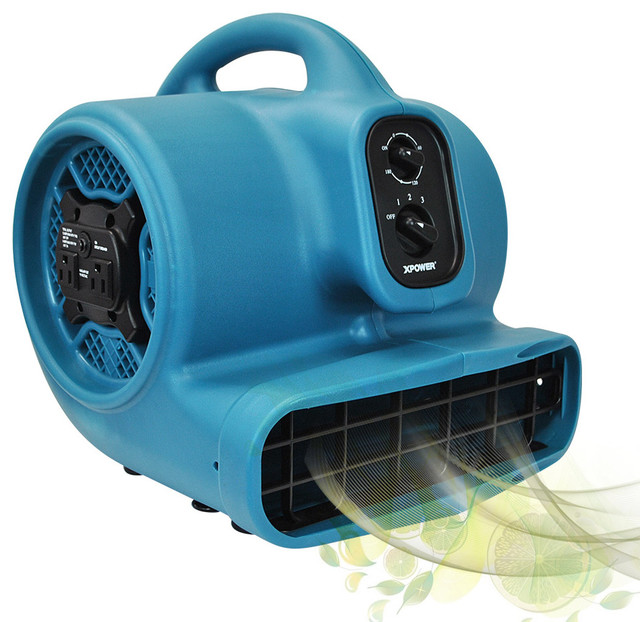 Xpower P-450at Freshen Aire Scented Air Mover With Timer And Power Outlets.