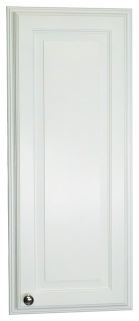 "42"" Recessed In The Wall White Enamel Finished Montery Medicine Storage Cabinet."