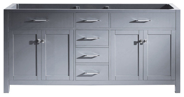 Caroline 72 Double Bathroom Vanity Cabinet, Gray by Avant Styles LLC