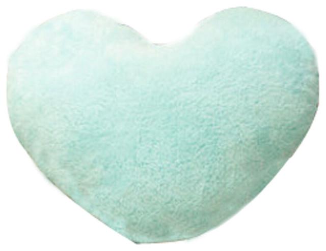 Coral Fleece Cute Pillow Creative Waist Cushion The Cushion Blue.