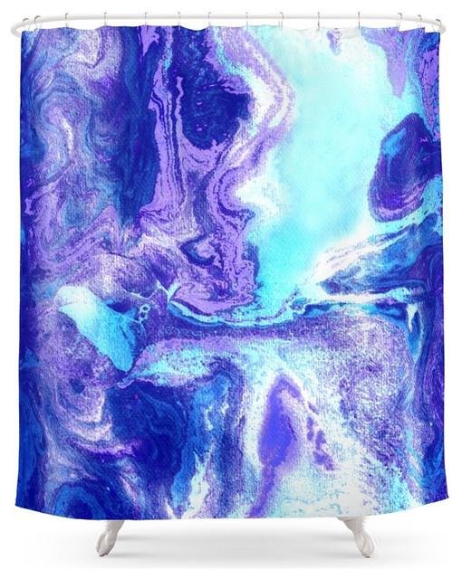 Modern Blue Shower Curtains