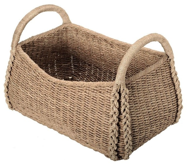 Rectangular Seagrass Basket beach-style-baskets