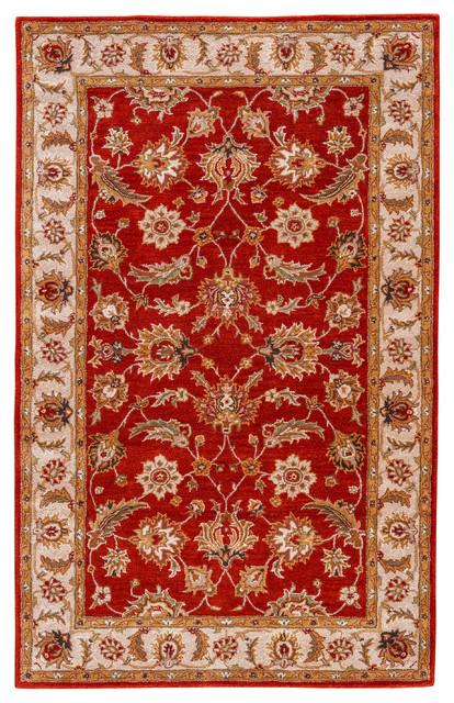 Jaipur Living Selene Handmade Floral Red Gold Area Rug